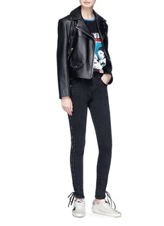 SAINT LAURENT TO THE MOON AND BACK印花纯棉T恤