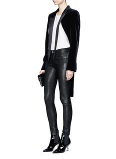 Saint Laurent Cutout lapel velvet tuxedo coat