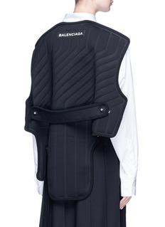 Balenciaga Detachable car mat back overlay poplin shirt