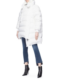 Balenciaga Oversized pulled hooded down puffer jacket