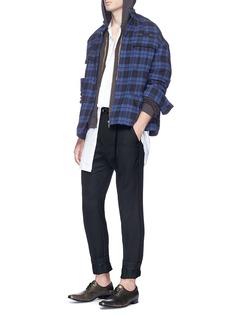 Haider Ackermann Virgin wool basketweave pants