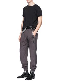 HAIDER ACKERMANN 不规则条纹纯棉T恤