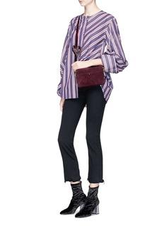 Anya Hindmarch 'Double Stack' heart strap colourblock leather crossbody bag