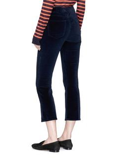 Frame Denim 'Le Crop Mini Boot' velvet cropped pants