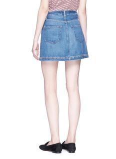 Frame Denim 'Le Studded' mini denim skirt