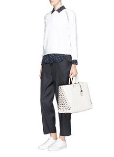Coach 'Rogue' Coach Link panel glovetanned leather tote