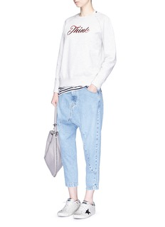 bassike 'Super Lo Slung' drop crotch jeans