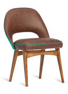 Self Bill chair – Chocolate Brown/Green