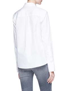 FFIXXED STUDIOS Pleated pocket cotton poplin shirt