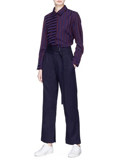 FFIXXED STUDIOS Extended belt wool suiting pants