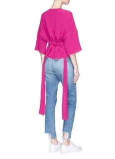 FFIXXED STUDIOS 'Joyce' sash waist silk crepe top