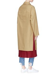 FFIXXED STUDIOS Reversible oversized cotton twill trench coat