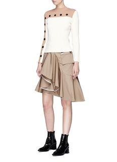 JINNNN 搭叠布饰不对称设计半身裙
