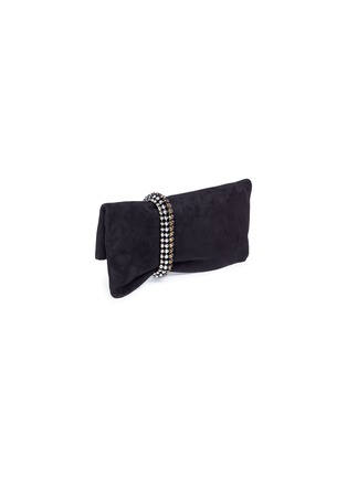 Figure View - Click To Enlarge - Jimmy Choo - 'Chandra' jewelled bracelet suede clutch