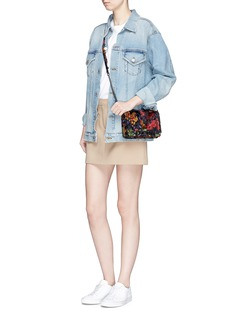 Rebecca Minkoff 'Love' small floral burnout crossbody bag