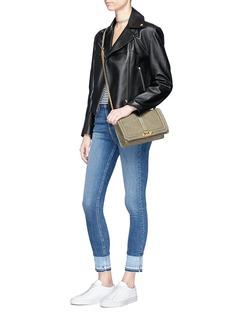 Rebecca Minkoff 'Love' quilt embossed nubuck leather crossbody bag