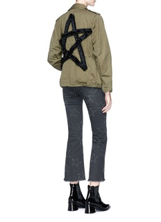Tu Es Mon Trésor Pleated ribbon star canvas M-65 field jacket