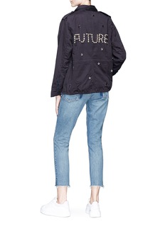 Tu Es Mon Trésor 'Future' glass crystal star charm canvas M-65 field jacket