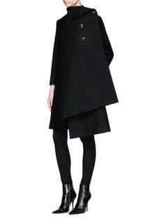 Balenciaga Pulled wool twill coat