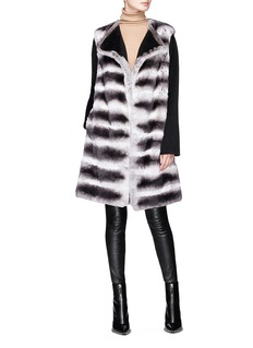 Yves Salomon Rabbit fur long gilet