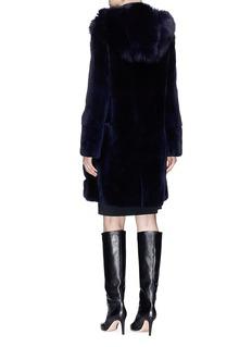 Yves Salomon Panel fox panel mink fur coat