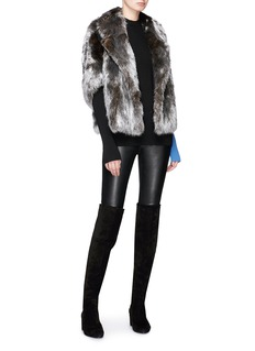 Yves Salomon Goat fur coat
