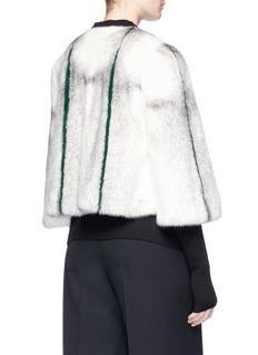 Yves Salomon Cropped stripe mink fur jacket