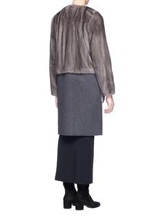 Yves Salomon Detachable melton hem panel mink fur jacket