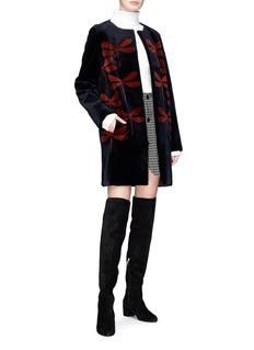 Yves Salomon Dragonfly print embellished mink fur coat