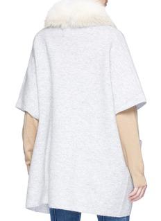 Yves Salomon Detachable fox fur collar oversized rib knit cardigan