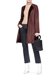 Yves Salomon Lambskin leather coat