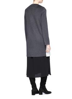 Yves Salomon Wool-cashmere melton back mink fur coat
