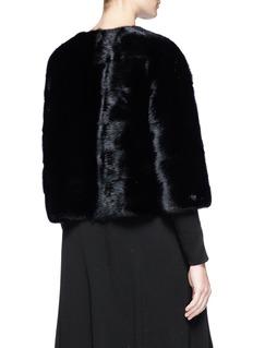 Yves Salomon Cropped mink fur jacket