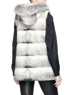 Yves Salomon Fox trim hooded mink fur gilet