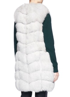 Yves Salomon Fox fur goat leather long gilet
