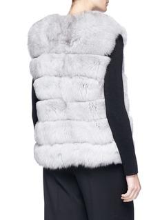 Yves Salomon Fox fur goat leather short gilet