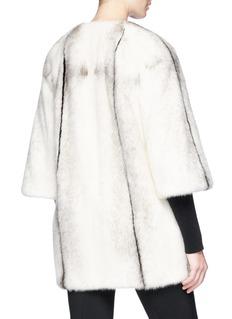 Yves Salomon Stripe mink fur coat