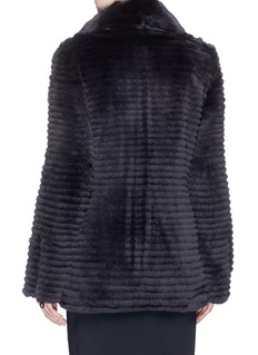 Yves Salomon Reversible Rex rabbit fur down puffer coat