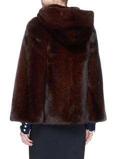 Yves Salomon Mink fur cape