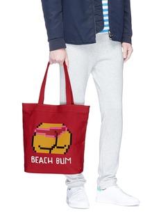 Mostly Heard Rarely Seen 'Beach Bum' rubber appliqué tote bag