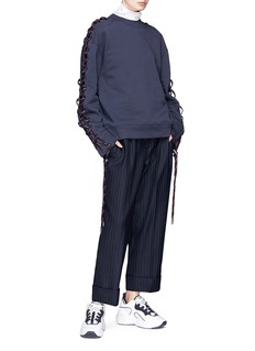 ACNE STUDIOS Doris拼色系带纯棉卫衣