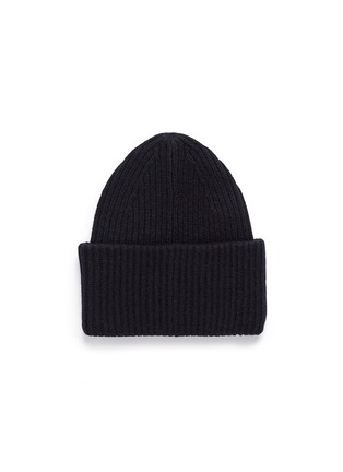 Figure View - Click To Enlarge - Acne Studios - 'Pansy L Face' emoticon patch wool blend beanie