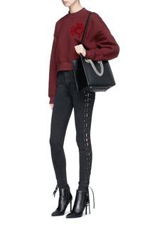 Madegold 'Betty' lace-up skinny denim pants