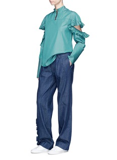 Maggie Marilyn 'I'll Stand Beside You' ruffle outseam denim pants