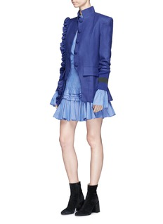 Maggie Marilyn 'Know Your Power' ruffle trim wool blazer
