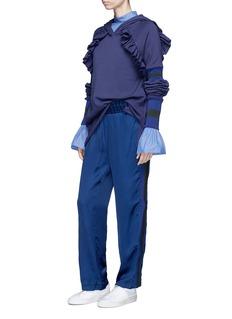 Maggie Marilyn 'Follow My Lead' ruffle trim hoodie