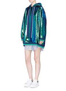 Mira Mikati Sequin hoodie dress