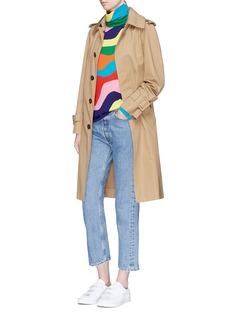 Mira Mikati Rainbow wavy stripe Merino wool turtleneck sweater