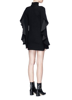 STRATEAS CARLUCCI 'Orchid' ruffle stretch crepe dress