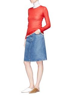 Acne Studios 'Blå Konst Shadow' denim A-line skirt